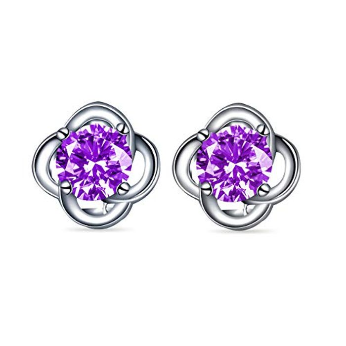 LIGHTNING DEAL - Lucky Clover Sterling Silver Stud Earrings with Elegant Giftbox