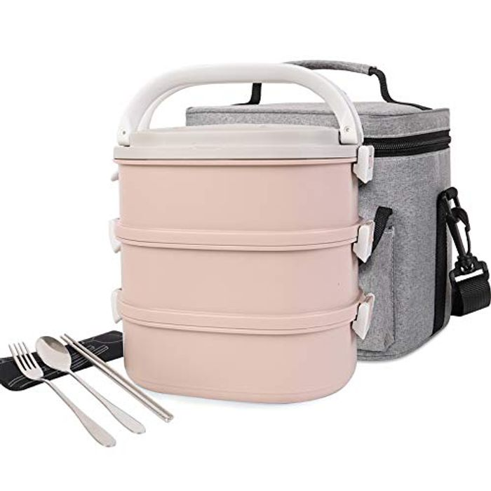 Stainless Steel Square Lunch Box with Insulated Container Lunch Bag