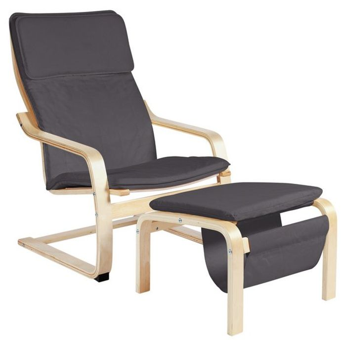 Habitat High Back Chair & Footstool (2 Colours) Only £67 with Free C&C