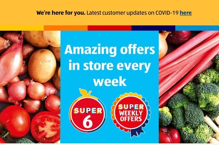 Aldi Super 6 Spring onion,Tomato,Baking Potato,Red Pepper,Watermelon,Grapefruit