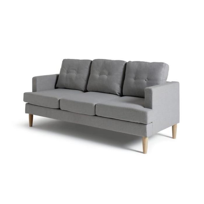 Habitat Joshua 3 Seater Fabric Sofa, Light Grey - Only £240!