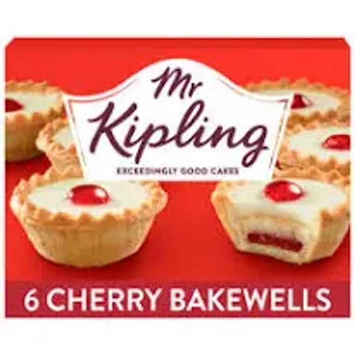 Mr Kipling Cherry Bakewells 6pk