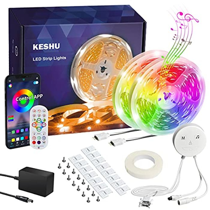DEAL STACK - KESHU 15M Multiple Color Changing Led Strip Lights + 10% Coupon