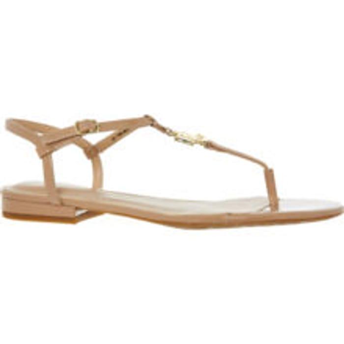 LAUREN RALPH LAUREN Natural Patent Leather Elmstead Sandals