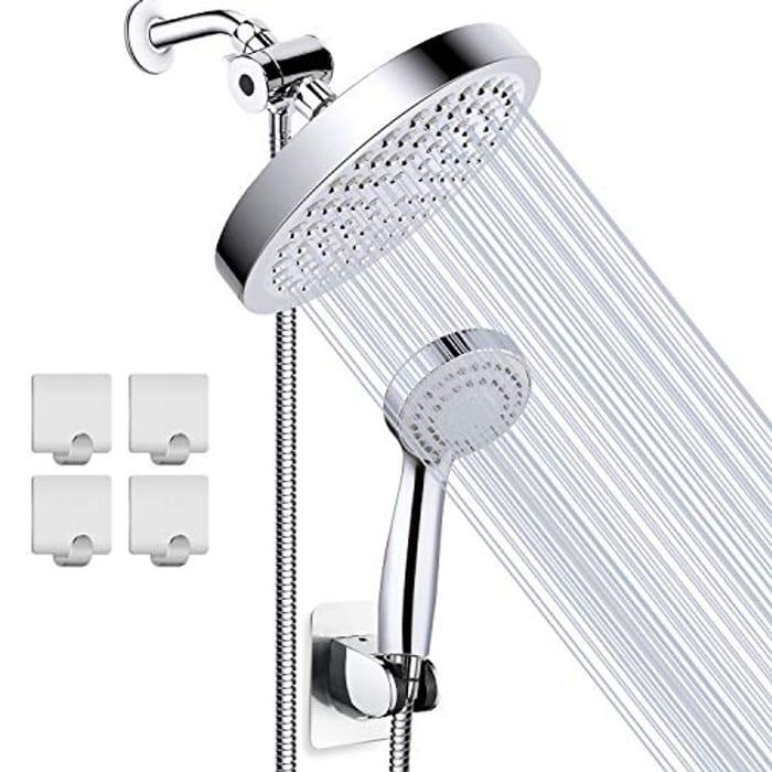 Taiker High Pressure Shower Head with Holder & 4 Shower Hooks - Only £12.99!