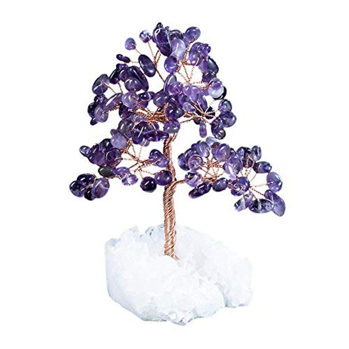 Natural Crystal Tree Gemstone Feng Shui Wealth Tree Ornaments - Only £4.00!