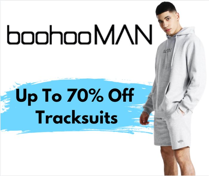 boohooMAN Up To 70% Off Tracksuits - Prices From £4!