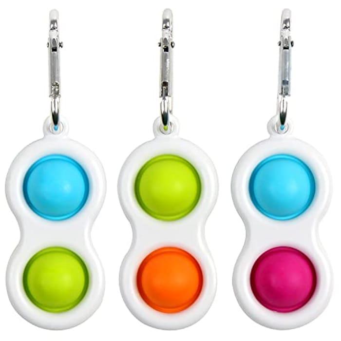 LOKIPA 3pcs Mini Dimple Fidget Toys