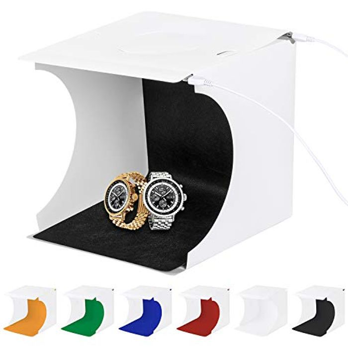Sanlinkee Foldable Photography Tent with 6 Colour Back Drops