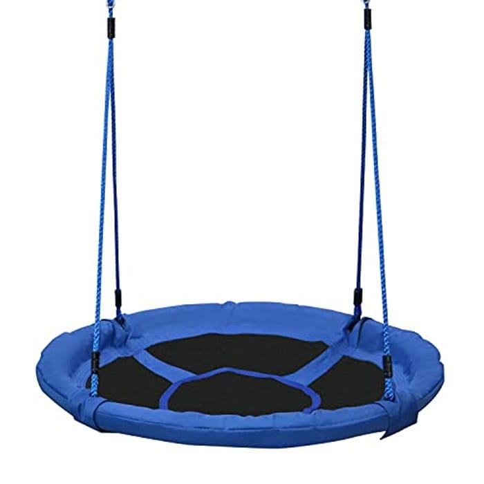HOMCOM round Children Kids Tree Swing Seat