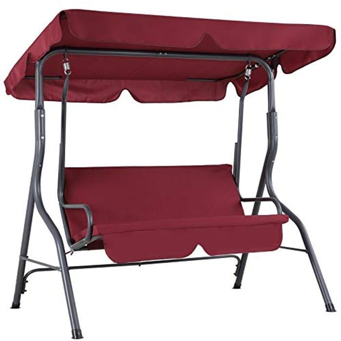 CHEAP! Casaria Garden Swing Bench Canopy Outdoor Patio Hammock Rocker Porch Seat