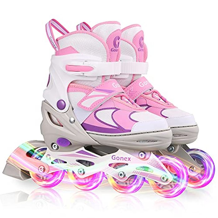 Outdoor Roller Skates with Luminous Light up Wheels