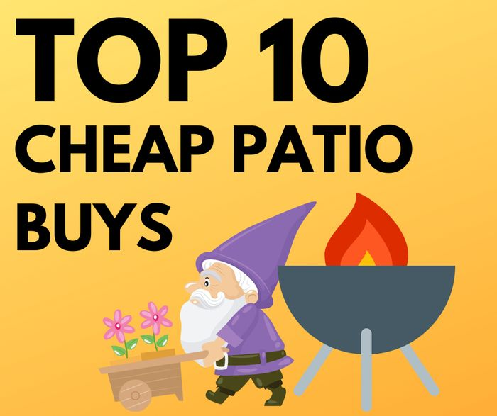 CHEAP! 10 Cheap Patio Buys - Inc. Fire Pits, Swing Benches, Flower-Pot & More