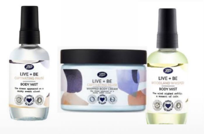 Boots Live + Be Woodland Whisper Body Mist/Be Captivating Pause Face & Body Mask