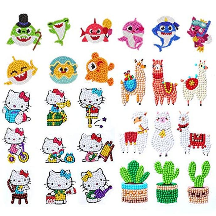 TINY FUN 27PCS DIY Cute Animal 5D Diamond Painting Stickers - Only £2.99!