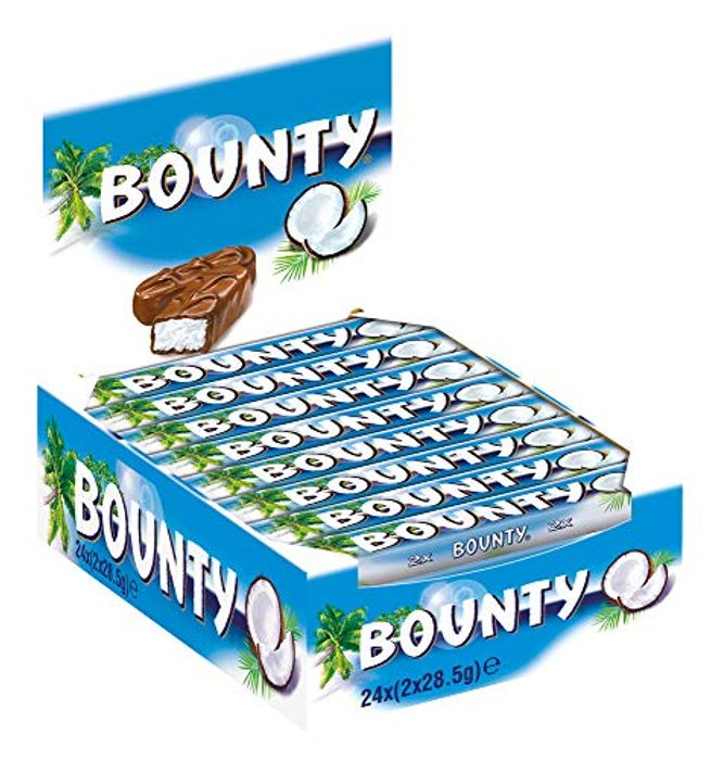Bounty Coconut Milk Chocolate Duo Bar - Pack of 24 X 57G - Only £6.00!