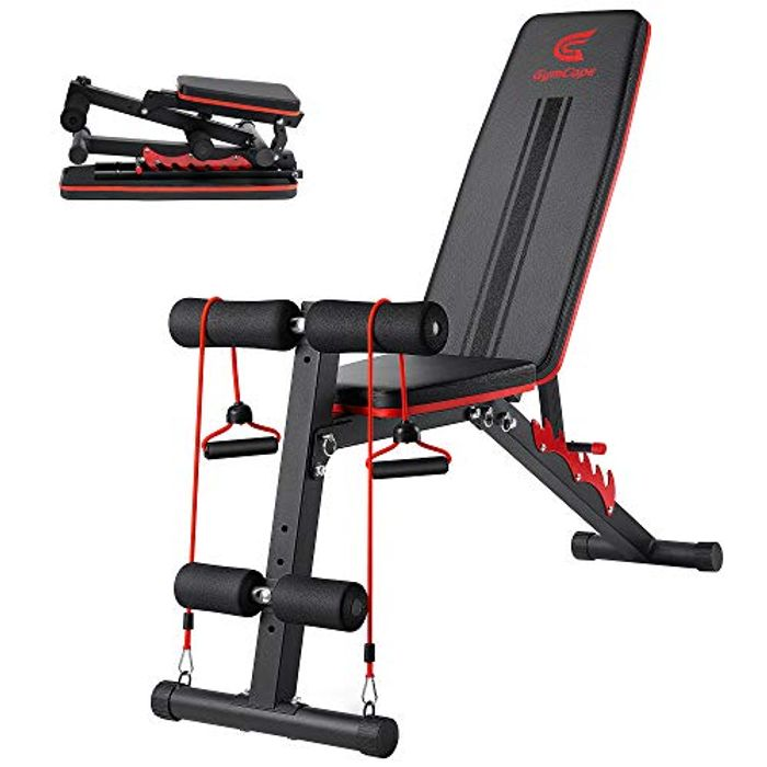 GymCope Adjustable Weight Workout Bench with 7 Backrest Positions - Only £36.99!