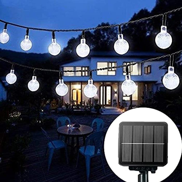 Solar String Lights Garden, 24 Ft 30 Waterproof Crystal Ball