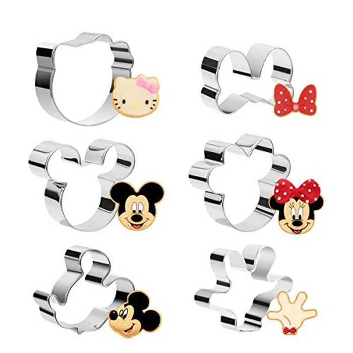 6pcs Mickey Biscuit Cutter Set
