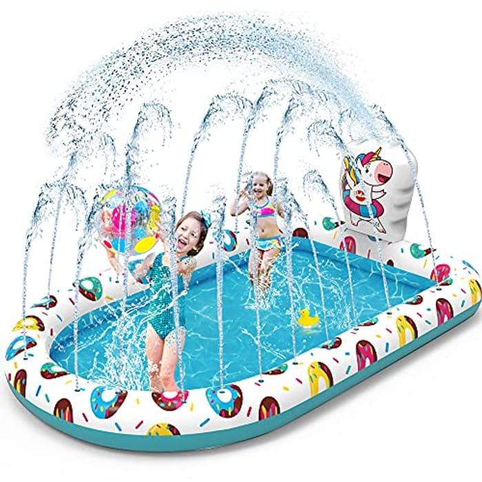 VATOS Inflatable Sprinkler Paddling Pool for Kids - Only £13.49!
