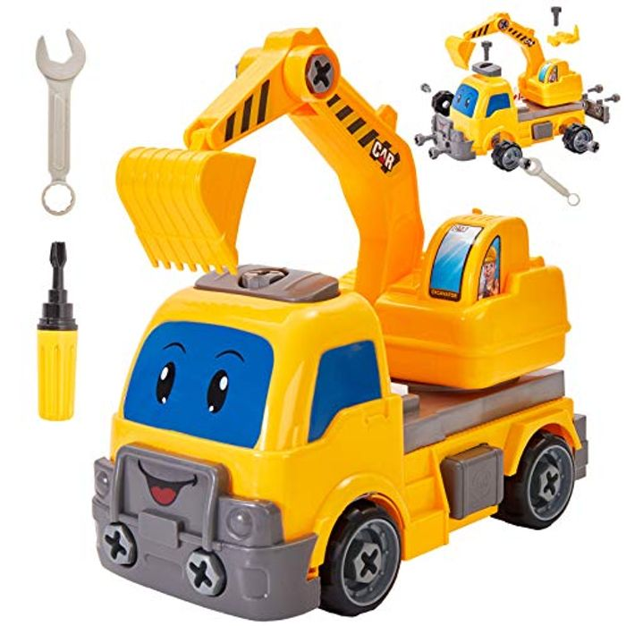 Buyger Construction Vehicle Assemble Toy - Only £5.94!