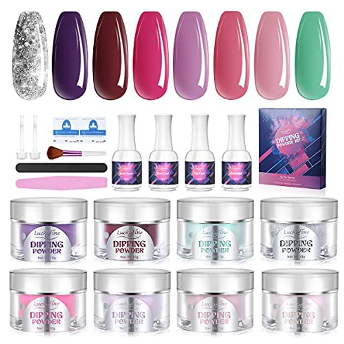 Acrylic Nail Powder Set 8 Colours Only £9.85 Delivered