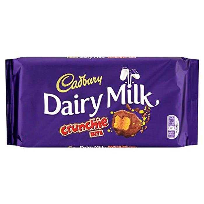 Cadbury Dairy Milk with Crunchie Bits Chocolate Bar, 200 G