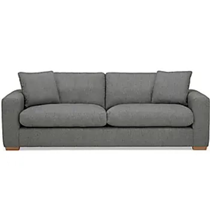 Porto Fabric 4 Seater Sofa - Dark Grey