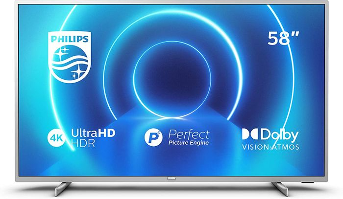 Philips 58-Inch TV (4K UHD TV, P5 Perfect Picture Engine, HDR 10+ Smart TV
