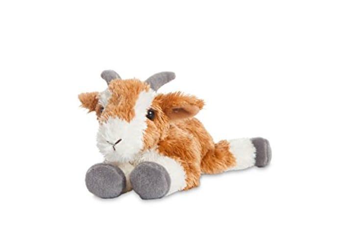 AURORA, 73903, Mini Flopsies Pickles, 8In, Fluffy Goat Cuddly Toy