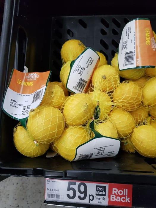ASDA Grower's Selection Lemons  4pk