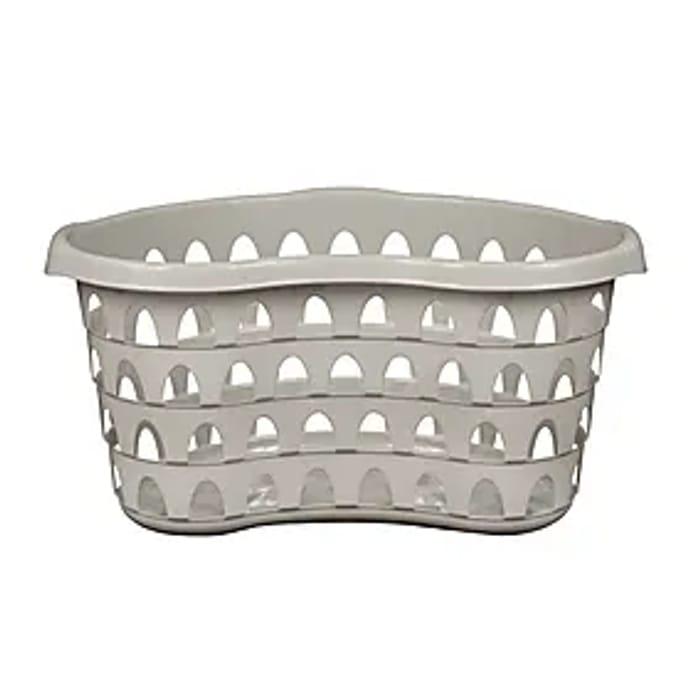 Strata Hip Laundry Basket Grey