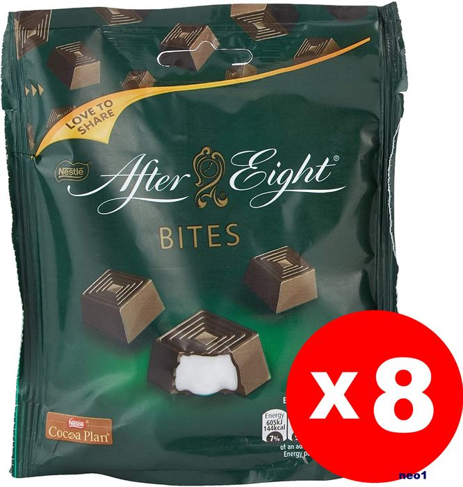 After Eight Munchies Mint Chocolate Sharing Pouch, 107 G - Pack of 8