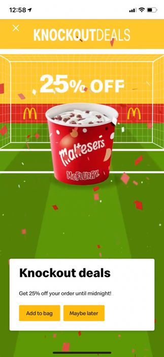 25% off Everything at McDonalds Today Only (Via the App)