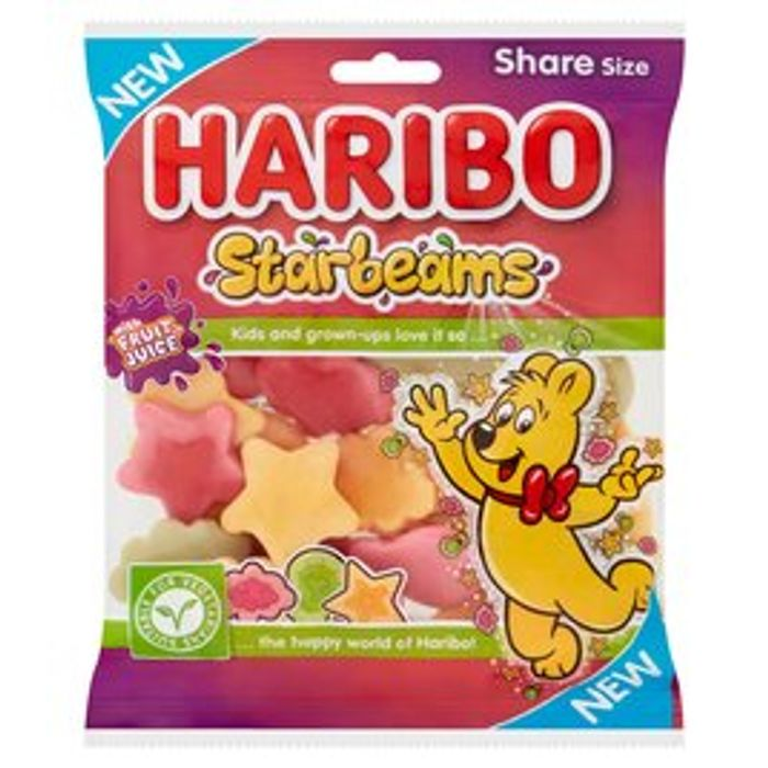 Haribo Starbeams Vegetarian Sweets Share Bag 175g
