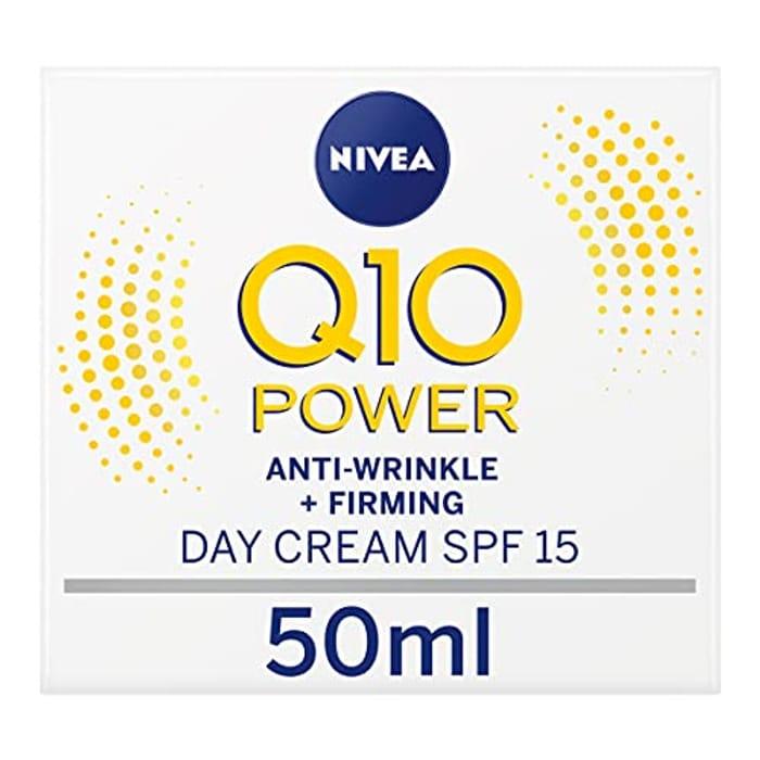 Nivea Q10 Power Anti-Wrinkle + Firming Day Cream SPF15 (50 Ml)