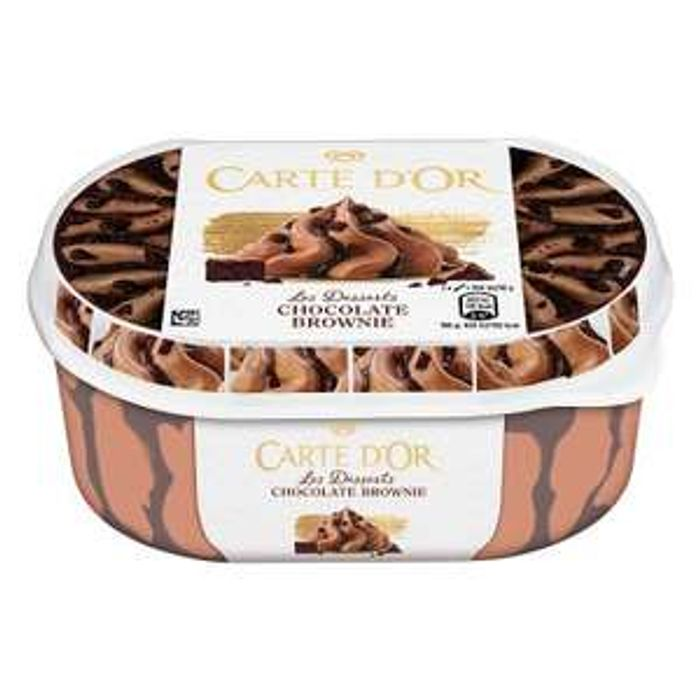 Carte D'or Chocolate Brownie Ice Cream 900ml is £1 at Farmfoods