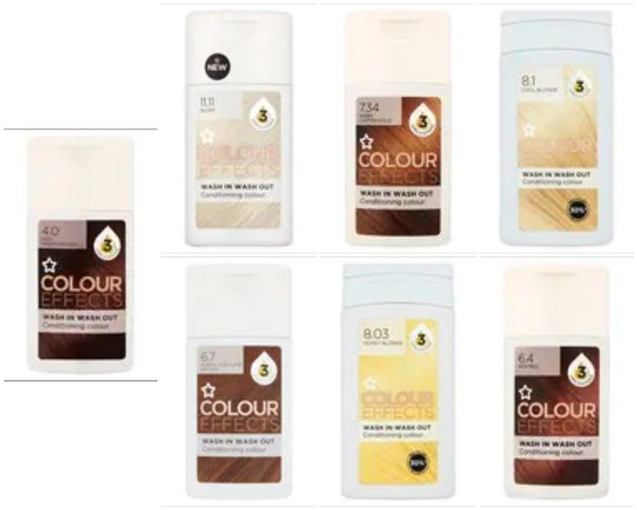 Buy 6 for £7.02 - Colour Effects Hair Colour 7 Shades Available