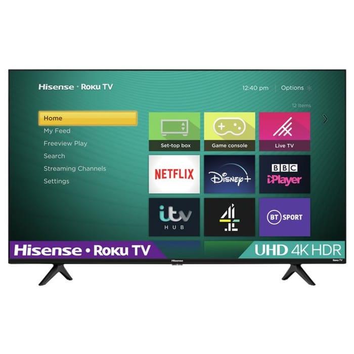 Hisense Roku 43 Inch R43A7200GTUK Smart 4K LED Freeview TV