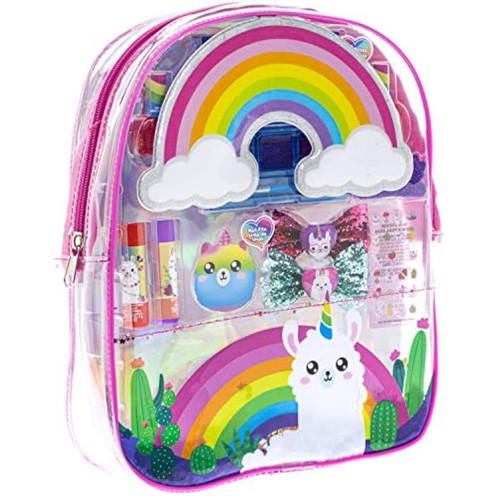 CHEAP! Townley Girl No Drama Llama Makeup Filled Backpack