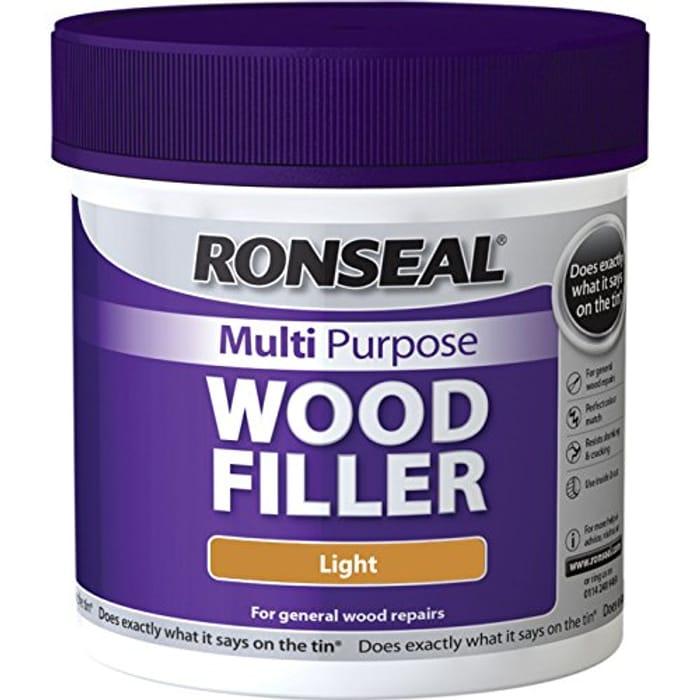 Ronseal MPWFL465 465 G Multi-Purpose Wood Filler Tub - Light