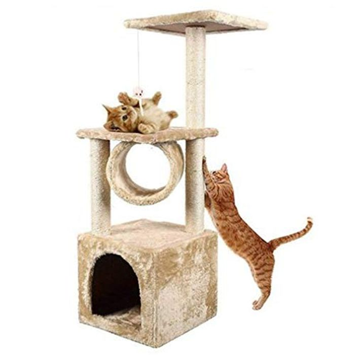 Blackpoolal Cat Tree Climbing Tower Cat Scratcher,