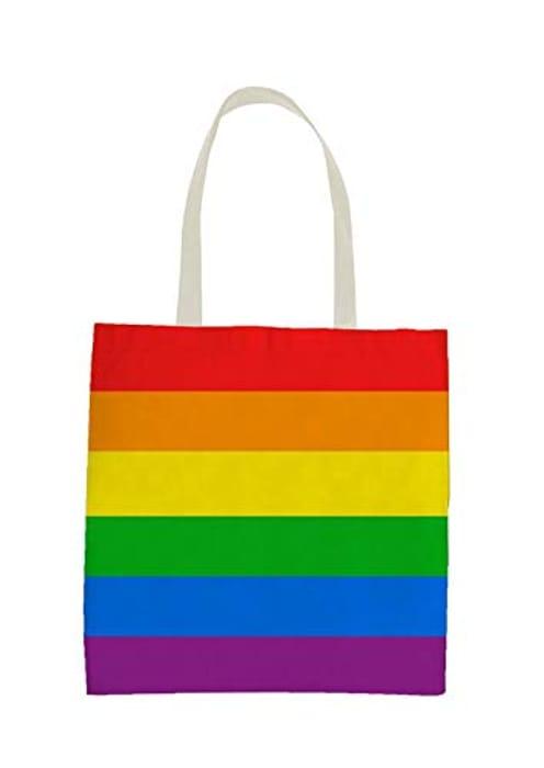 Henbrandt Pride Flag Rainbow LGBT Flag Tote Bag/Shopping Bag