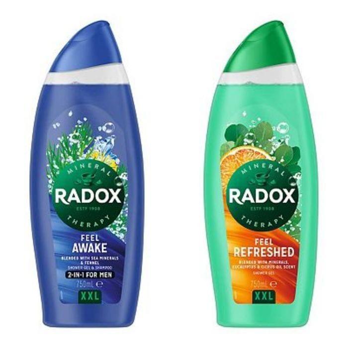 Radox Shower Gels Feel Awake & Refreshed -750ml (XXLarge Bottle)