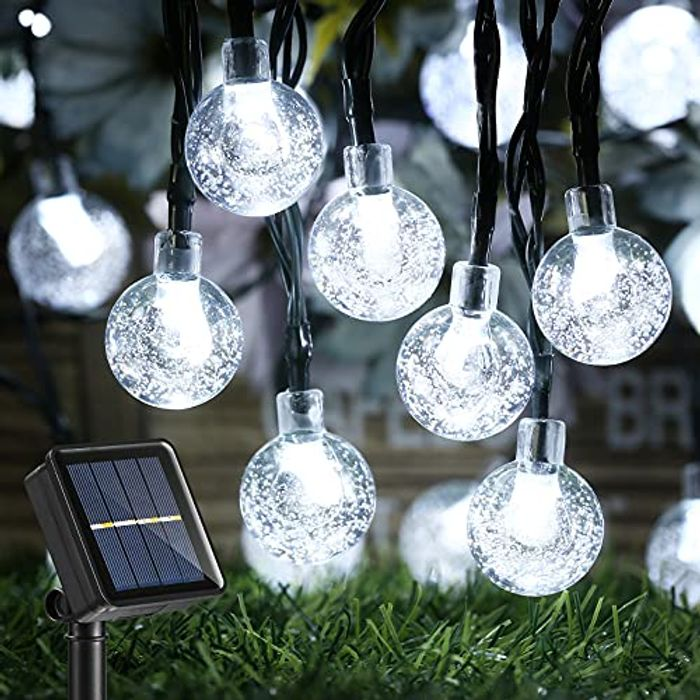 39Ft 60 LED Waterproof Bulb Solar Fairy Lights 50% off Promotion to Redeem