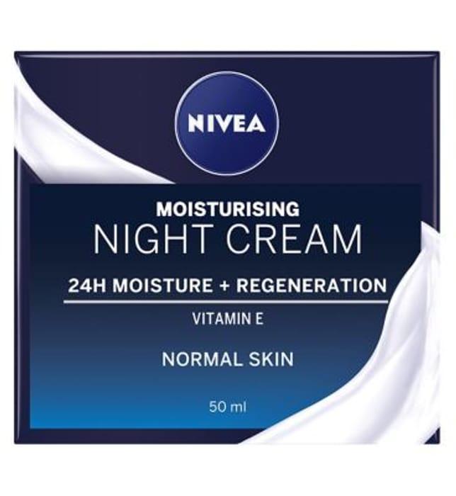 NIVEA Face Regenerating Night Cream for Normal & Combination Skin, 50ml