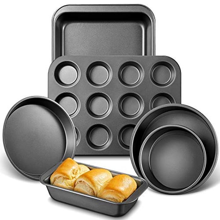 Deik 6-Piece Bakeware Set Non Stick Baking Set