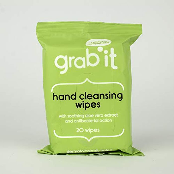 Pack of 8 Grab It, Hand Cleansing Wipes
