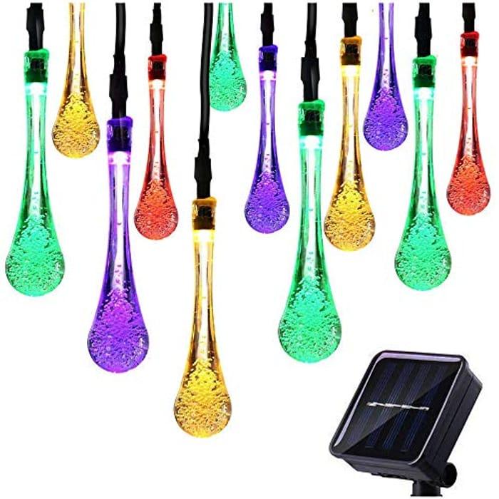 21ft 30 LED Solar String Lights