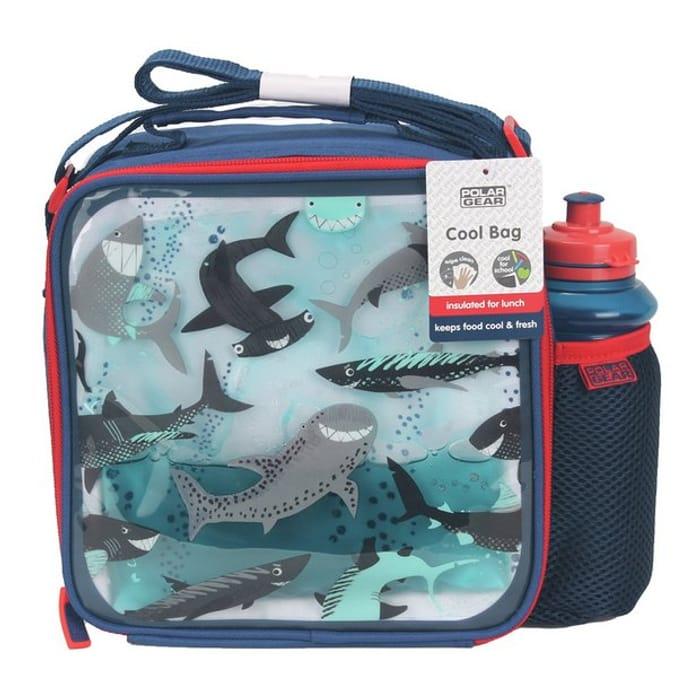 Shark Print Lunch Bag & Bottle - 450ml